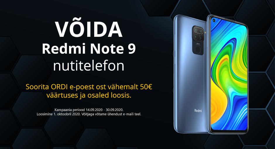 Võida Redmi Note 9