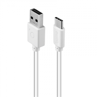 Acme Cable CB1042W 2 m, White, USB A, Ty