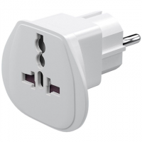 Travel adapter, (UK, US, IT, CH, to EU),