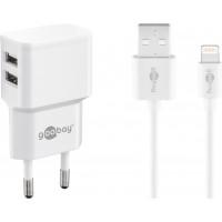 USB dual laadija Goobay/Apple